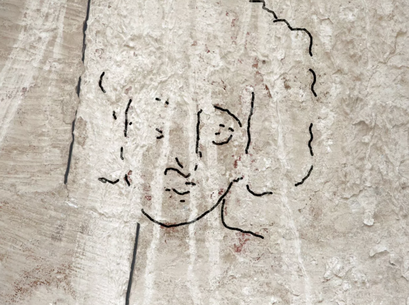 Desenho de rosto de Jesus é revelado em igreja de Israel